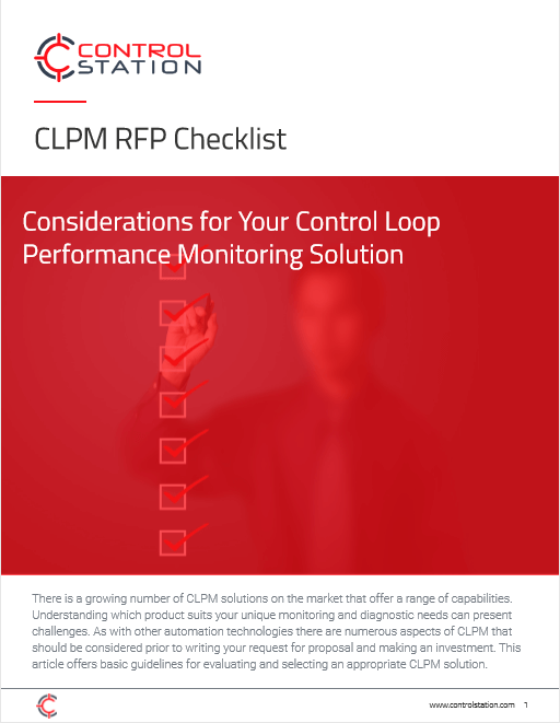 CLPM RFP Checklist: Considerations for Your Control Loop Performance Monitoring Solution
